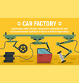 car factory parts concept banner flat style vector image