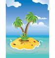 Cartoon Palm Island3 vector image