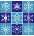 christmas snowflake icon set vector image vector image