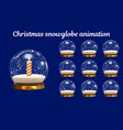 christmas snowglobe animation snowball vector image vector image