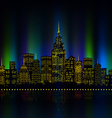 City lights cityscape colourful vector image