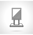 Citylight line icon vector image vector image