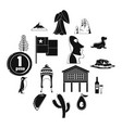 cjile travel icons set simple style vector image vector image