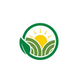 clean farm agriculture logo design concept vector image vector image