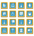 cleaning tools icons set sapphirine square vector image vector image