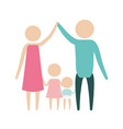 color silhouette pictogram parents holding hands vector image