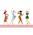 colorful women dancing at a party vector image