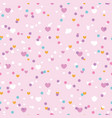 cute confetti hearts seamless repeat pattern vector image