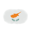 Cyprus flag halftone vector image vector image