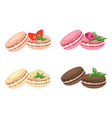 delicious macaroons set for menu vector image vector image