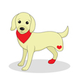 Dog without one leg Dog invalid Puppy with an inju vector image
