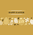 easter banner with decorative horizontal ornament vector image