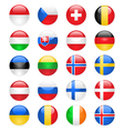 europe flags buttons part two vector image vector image