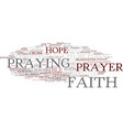 faith word cloud concept vector image vector image