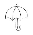 figure umbrella open to protection the natural vector image vector image