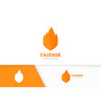 fire and shield logo combination flame and vector image vector image