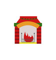 fireplace color icon element of christmas and new vector image