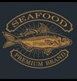 fish seafood ocean logo vintage annimal il vector image