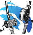 fishing rods for fishing vector image vector image