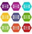 futsal or indoor soccer field icon set color vector image vector image