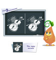 game find 9 differences violin vector image vector image