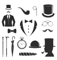 Gent icons set vector image vector image