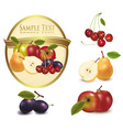 gold label with sweet fruit vector image vector image