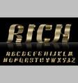 gold ribbon font vector image vector image