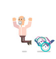grandpa got up from the wheelchair vector image