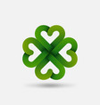green four-leaf lucky clover symbol vector image