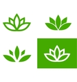 Green lotus set vector image vector image