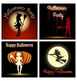 Halloween Witch Party Set vector image vector image