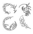 hand drawn sketch of abstract feather vector image vector image