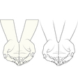 hands outstretched in front vector image vector image