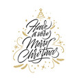have a very merry christmas card vector image vector image
