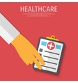 healthcare medical flat background vector image vector image