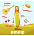 Hippie Character vector image