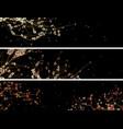 horizontal banners abstract drawing blossoming vector image vector image