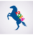 horse with new year 2014 riding numbers vector image vector image