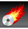 hot disk vector image vector image