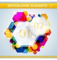 Info graphic hexagonal paper elements on abstract vector image vector image