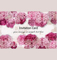invitation card with rose flowers and delicate vector image vector image