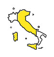 italy map icon design vector image vector image