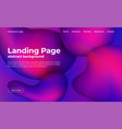 landing page template abstract background with vector image vector image