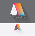 letter a colorful design element for business vector image