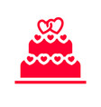 love icon or valentines day sign designed for vector image