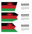 malawi flag banners collection independence day vector image vector image