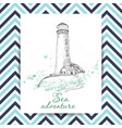 marine holidays cards with lighthouse vector image vector image