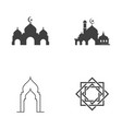mosque icon design vector image vector image