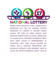 national lottery promotional poster with numbered vector image vector image